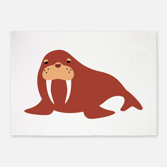Walrus Animal 5'x7'Area Rug