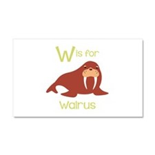 W Is For Walrus Car Magnet 20 x 12