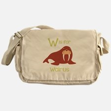 W Is For Walrus Messenger Bag