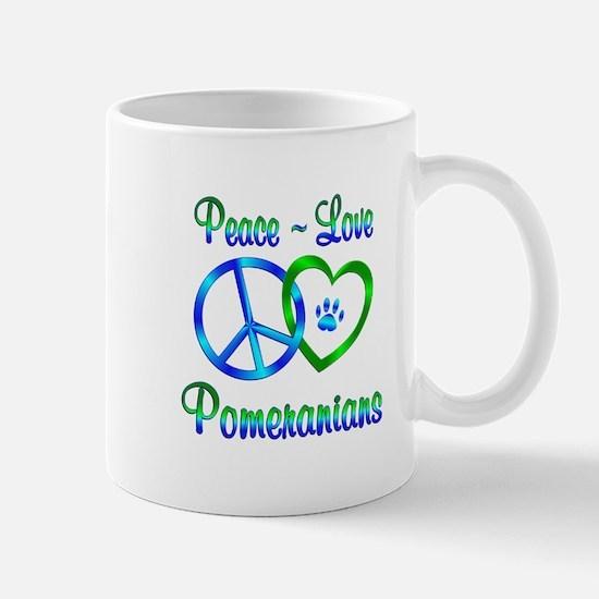 Peace Love Pomeranians Mug
