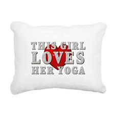 TOP Yoga Love Rectangular Canvas Pillow
