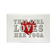 TOP Yoga Love Rectangle Magnet