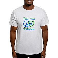 Peace Love Pekingese T-Shirt