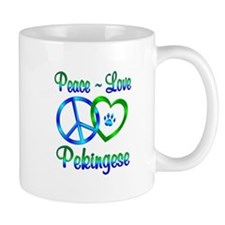 Peace Love Pekingese Mug