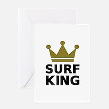 Surf King Greeting Card