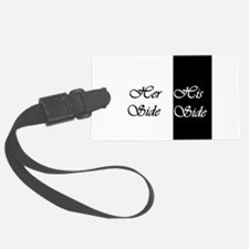 Her Side His Side Luggage Tag