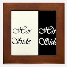 Her Side His Side Framed Tile
