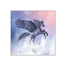 """Flying Pony Square Sticker 3"""" x 3"""""""
