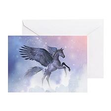 Flying Pony Greeting Card