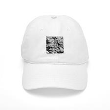 White rock concrete texture Baseball Baseball Cap