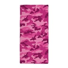 Pink Camo; Camouflage 1 Beach Towel