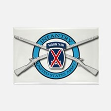 10th Mountain Muskets Rectangle Magnet