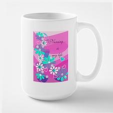 Nursing is my life pink Mugs