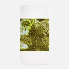 Yellow rusted surface texture Beach Towel