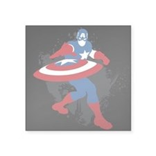 "Captain America Minimalist Square Sticker 3"" x 3"""