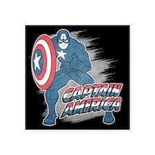 "Captain America Vintage Square Sticker 3"" x 3"""