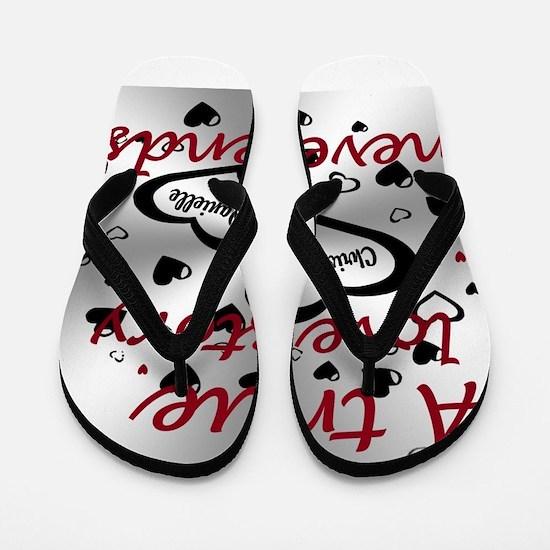 True Love Story Flip Flops