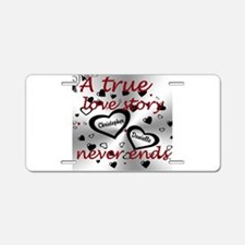 True Love Story Aluminum License Plate