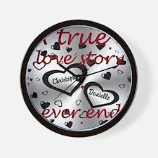 True Love Story Wall Clock