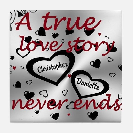 True Love Story Tile Coaster