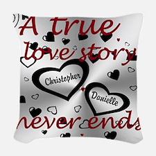True Love Story Woven Throw Pillow