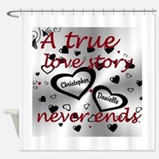True Love Story Shower Curtain