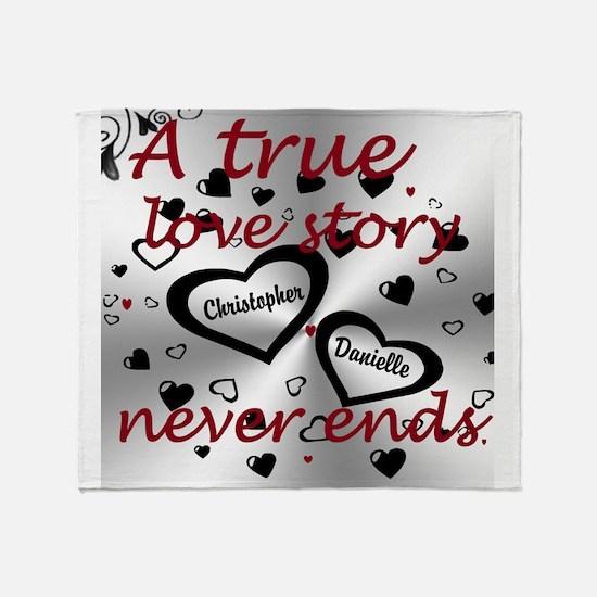 True Love Story Throw Blanket