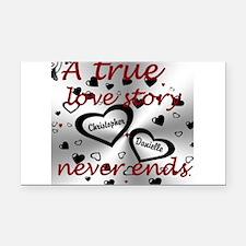 True Love Story Rectangle Car Magnet