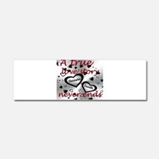 True Love Story Car Magnet 10 x 3
