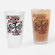 True Love Story Drinking Glass