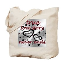True Love Story Tote Bag
