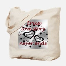True Love Story Tote Bag