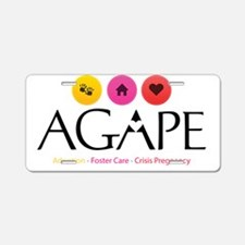 Agape - Connecting the Dots Aluminum License Plate