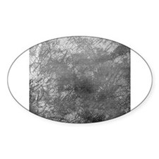 Grey frosted cursive linen Decal