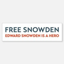 Free Snowden Bumper Bumper Bumper Sticker