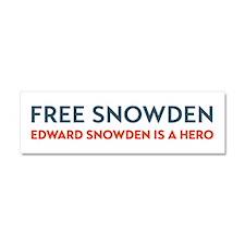 Free Snowden Car Magnet 10 x 3