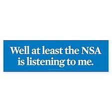 NSA Listens Bumper Bumper Sticker