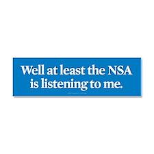 NSA Listens Car Magnet 10 x 3
