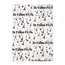 Cute French I LOVE PARIS 5'x7'Area Rug