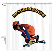 Longboarding Shower Curtain