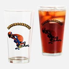 Longboarding Drinking Glass