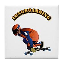 Longboarding Tile Coaster