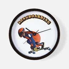 Longboarding Wall Clock
