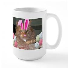 Easter Orange Tabby Cat Mugs