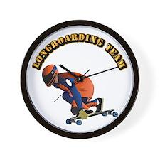 Longboarding Team Wall Clock