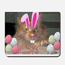 Easter Orange Tabby Cat Mousepad