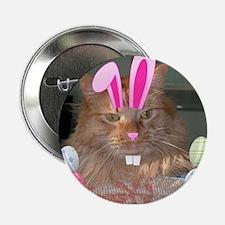 "Easter Orange Tabby Cat 2.25"" Button"