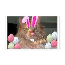 Easter Orange Tabby Cat Rectangle Car Magnet