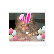 Easter Orange Tabby Cat Sticker