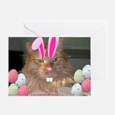 Easter Orange Tabby Cat Greeting Cards